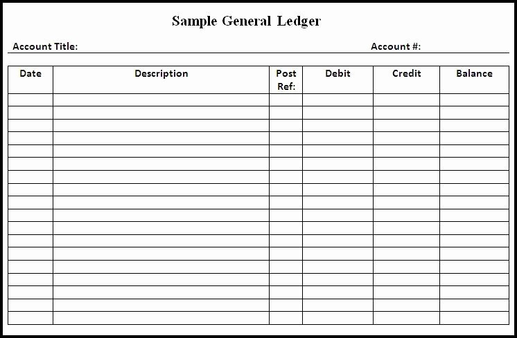 Free Printable General Ledger Template Lovely General Ledger Template Download Page