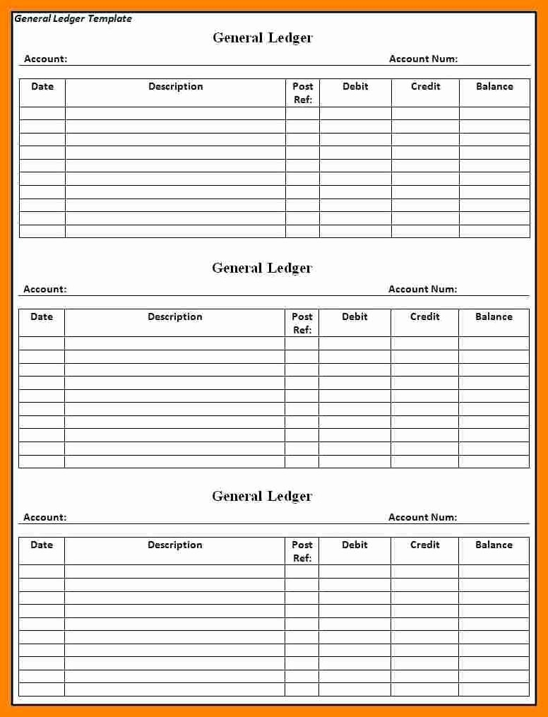 Free Printable General Ledger Template Luxury Printable Ledger Template