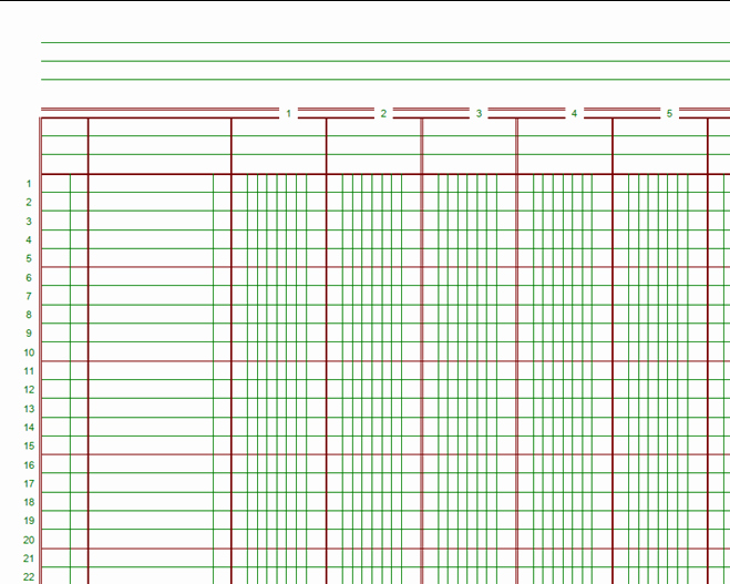 Free Printable General Ledger Template Unique 8 Best Of Free Printable Ledger Paper Printable
