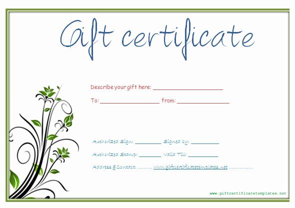 Free Printable Gift Card Template Elegant Custom Gift Certificate Template Free Gift Ftempo