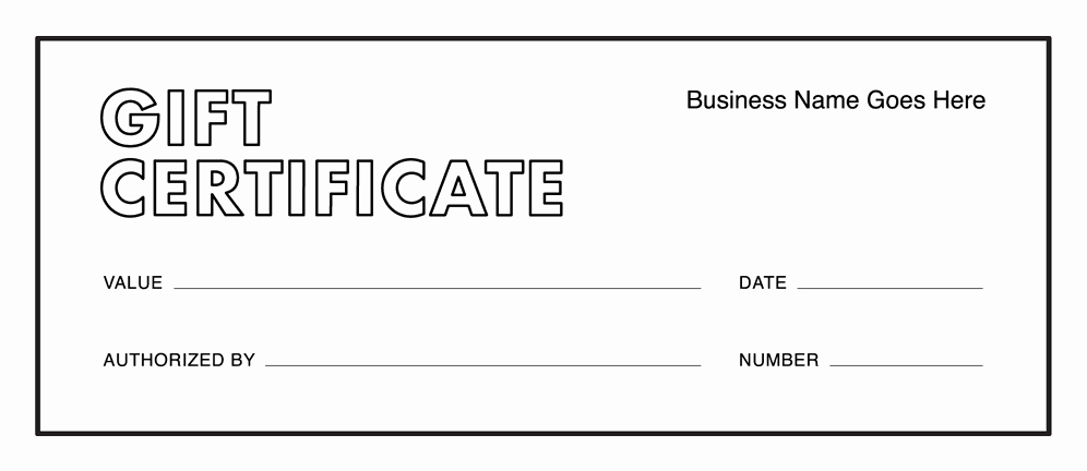 Free Printable Gift Card Template Unique Gift Certificate Templates Download Free Gift