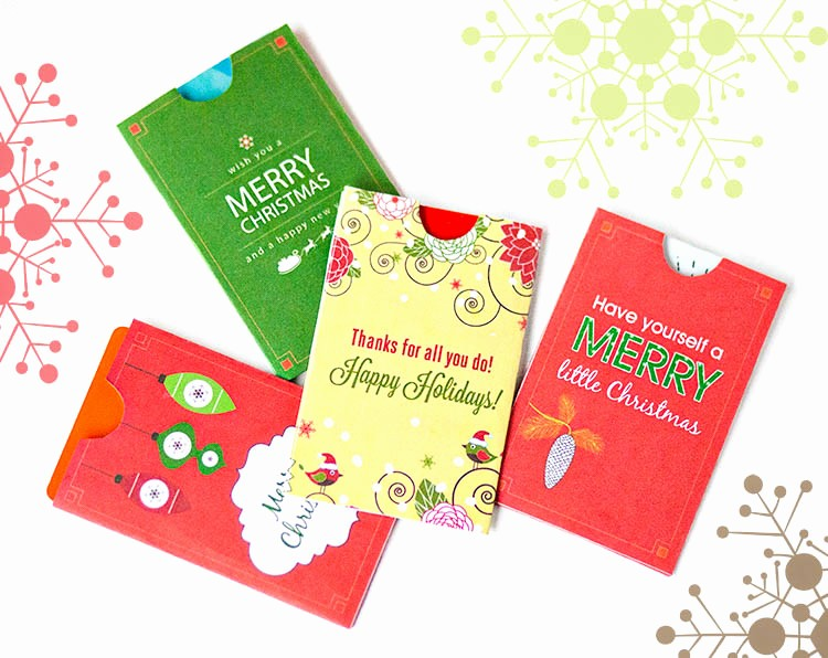Free Printable Gift Cards Online Awesome Free Holiday Gift Card Holder Printables