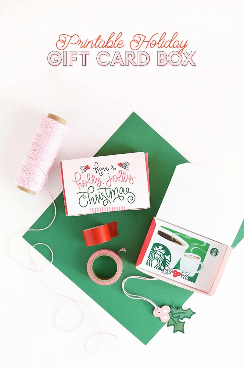 Free Printable Gift Cards Online Elegant Diy Gift Card Box Free Printable Gift Idea for Christmas