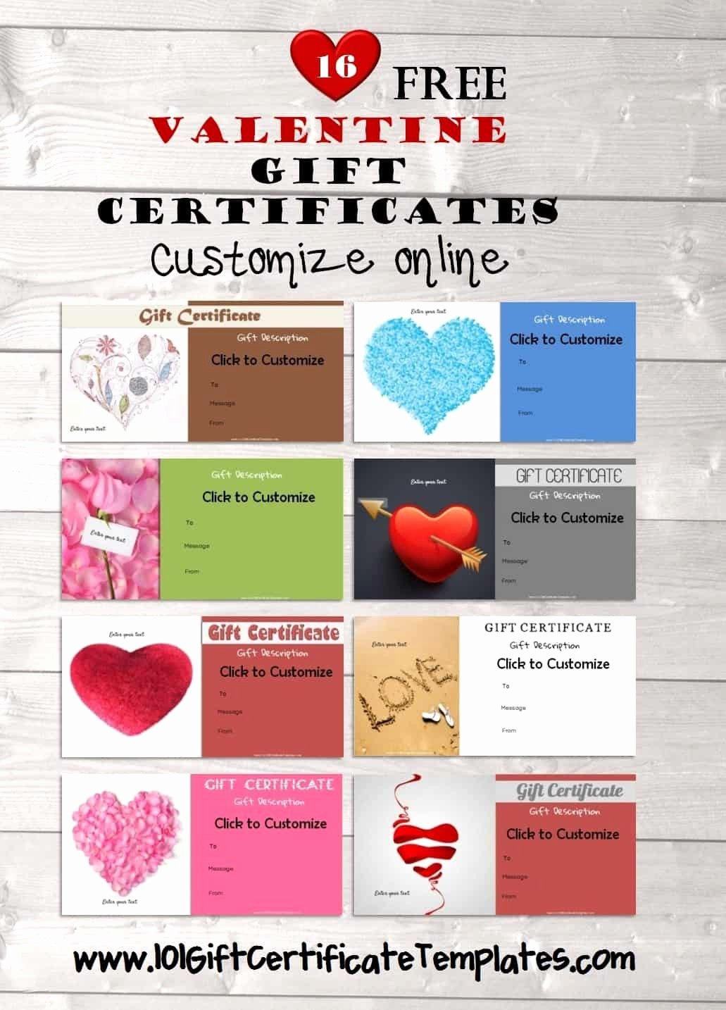 Free Printable Gift Cards Online Elegant Free Valentines Day Gift Certificate Template