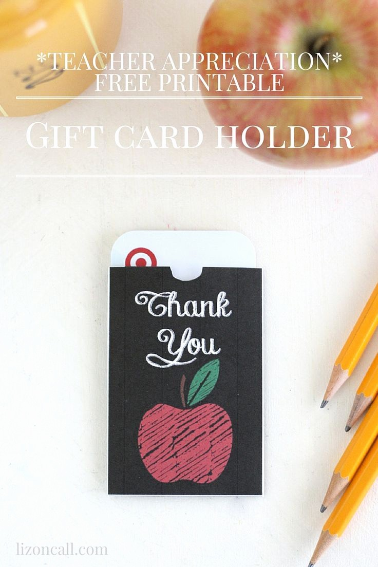 Free Printable Gift Cards Online Inspirational Free Printable Teacher Appreciation Gift Card Holder