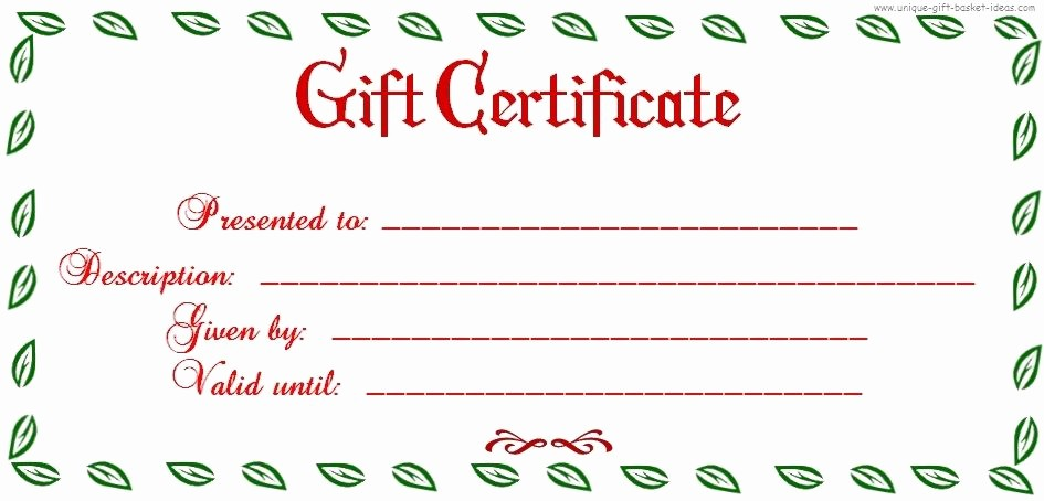 Free Printable Gift Cards Online Lovely Free Printable Blank Gift Certificate