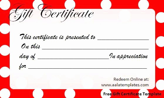 Free Printable Gift Cards Online Unique Holiday Gift Certificate Template Free Printable