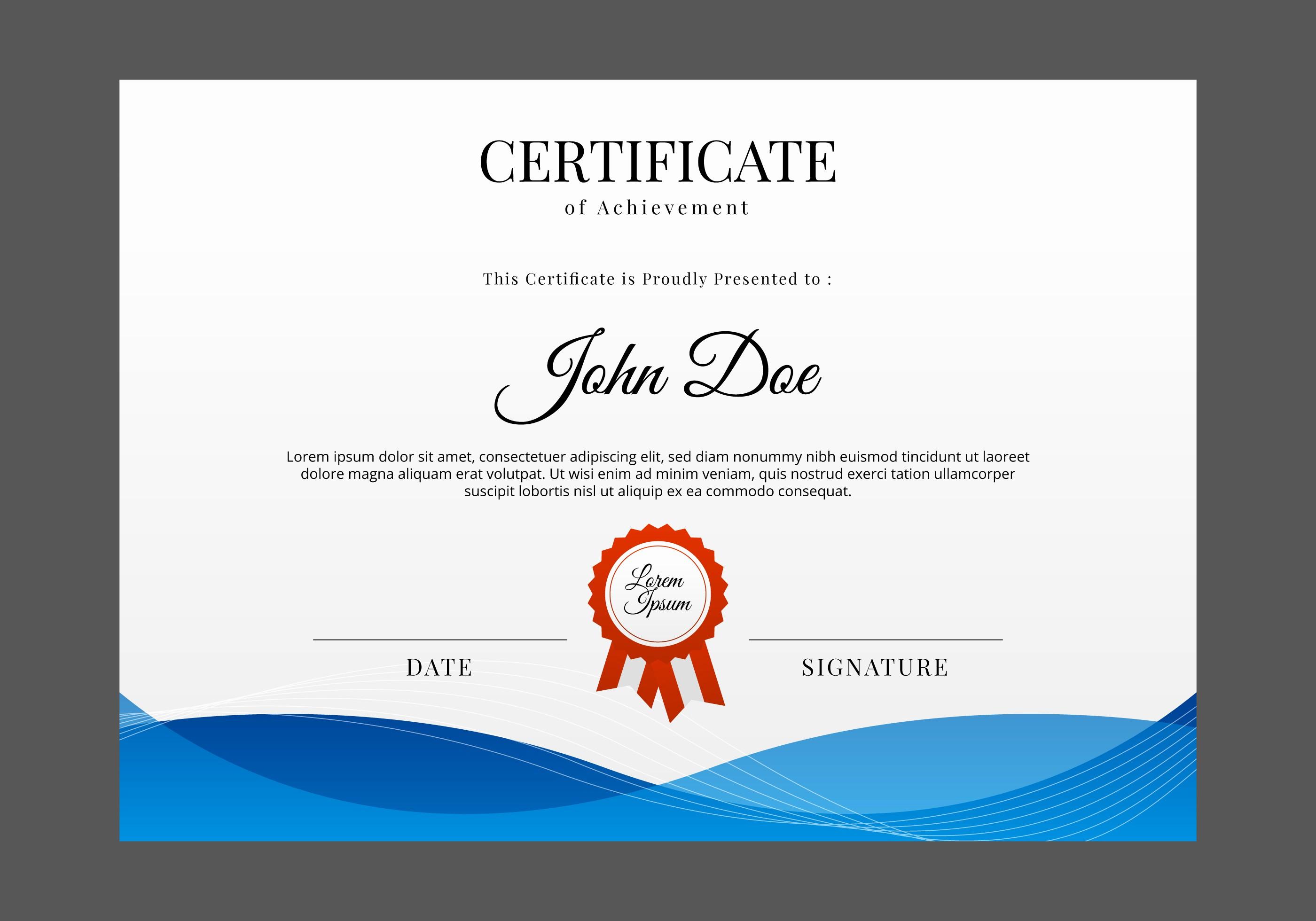 Free Printable Graduation Certificate Templates Awesome Free Certificate Template Vector Download Free Vector