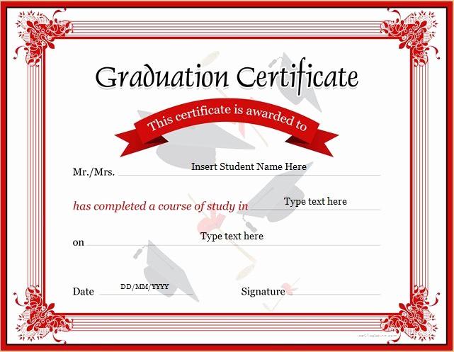 Free Printable Graduation Certificate Templates Awesome Graduation Certificate Templates for Ms Word