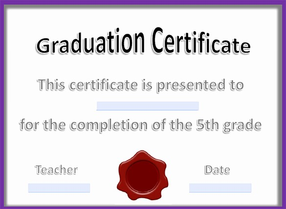 Free Printable Graduation Certificate Templates Beautiful 21 Graduation Certificate Templates Word Pdf Psd Ai
