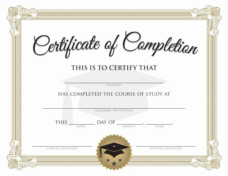 Free Printable Graduation Certificate Templates Elegant Graduation Certificate Template