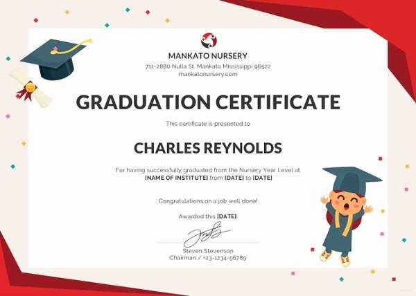 Free Printable Graduation Certificate Templates Fresh 18 Graduation Certificate Templates Word Pdf Documents