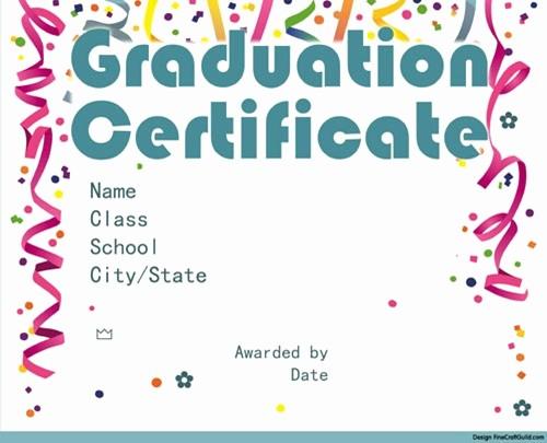 Free Printable Graduation Certificate Templates Fresh Free Graduation Certificate Templates