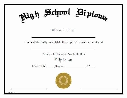 Free Printable Graduation Certificate Templates Inspirational 25 High School Diploma Template Printables [free]