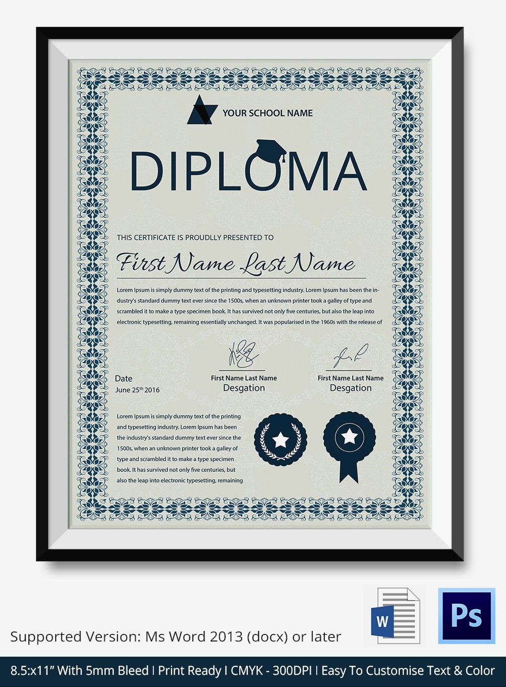 Free Printable Graduation Certificate Templates Inspirational Word Certificate Template 31 Free Download Samples