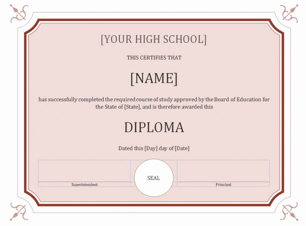Free Printable Graduation Certificate Templates Lovely 50 Free High School Diploma Template Printable