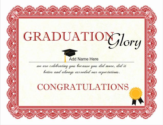 Free Printable Graduation Certificate Templates Luxury Printable Graduation Certificates