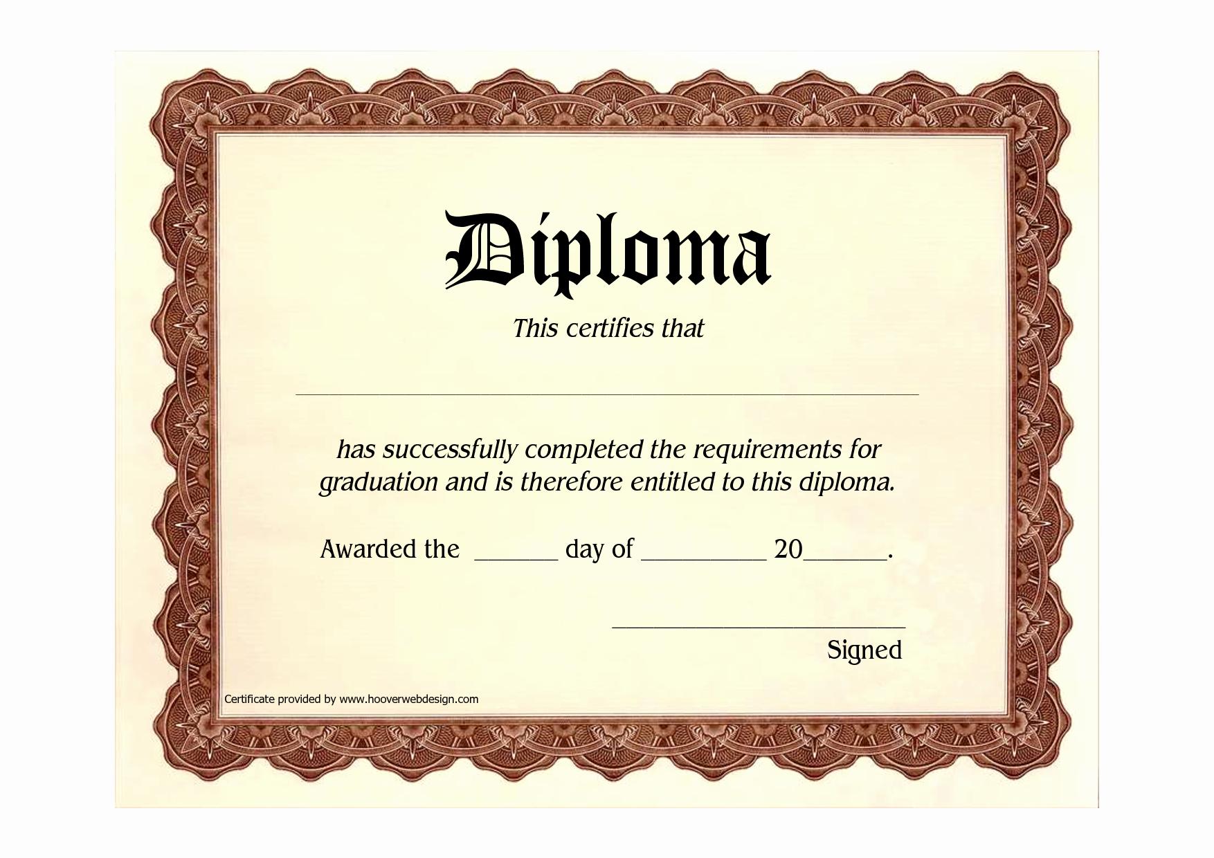 Free Printable Graduation Certificate Templates New 10 Best Of Blank Graduation Certificate Blank