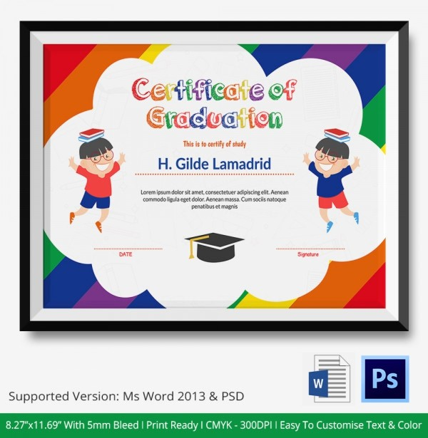 Free Printable Graduation Certificate Templates New 11 Graduation Certificate Templates Word Pdf Documents