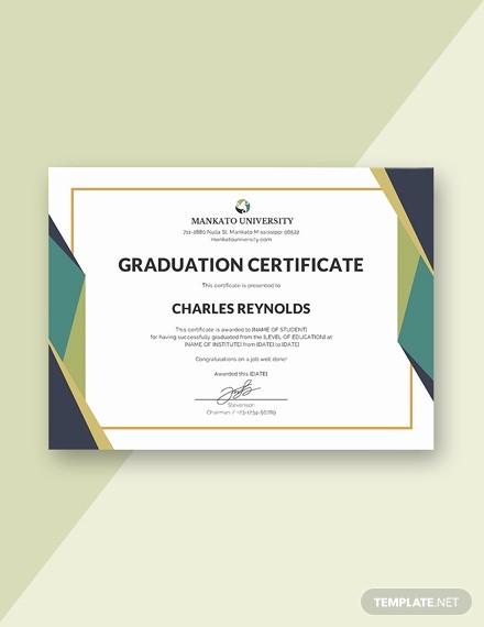 Free Printable Graduation Certificate Templates Unique Free Pany Training Certificate Template Download 200