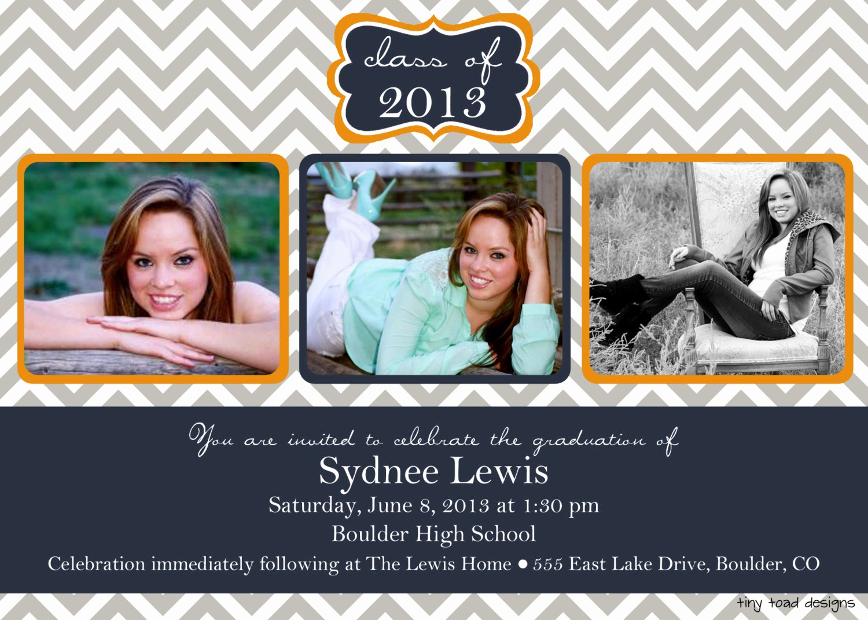 Free Printable Graduation Invitations 2016 Awesome Chevron Block Graduation Announcement Graduation Invitation