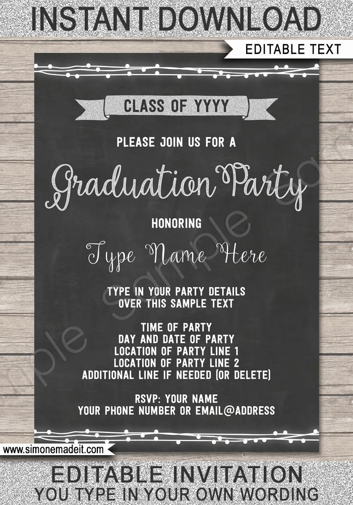 Free Printable Graduation Invitations 2016 Awesome Graduation Party Invitation