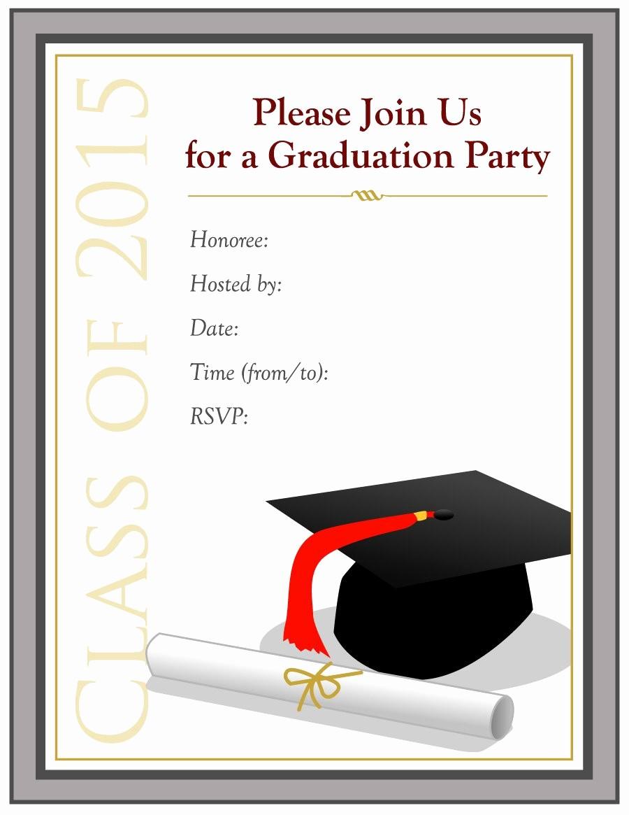 Free Printable Graduation Invitations 2016 Beautiful 40 Free Graduation Invitation Templates Template Lab