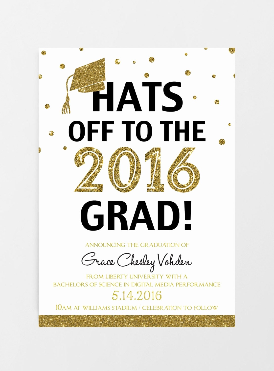 photograph regarding Printable Graduation Invitations named No cost Print At Household Commencement Invites - Letter