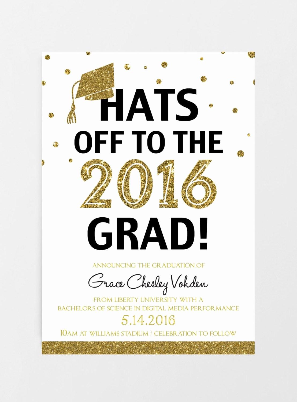Free Printable Graduation Invitations 2016 Beautiful Printable Graduation Invitation 2016 Graduation by