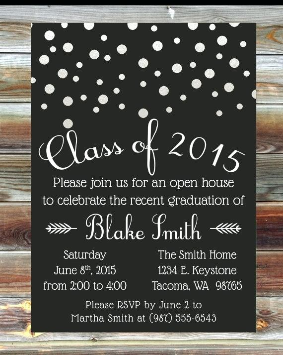 Free Printable Graduation Invitations 2016 Best Of Graduation Open House Invitations Graduation Open House