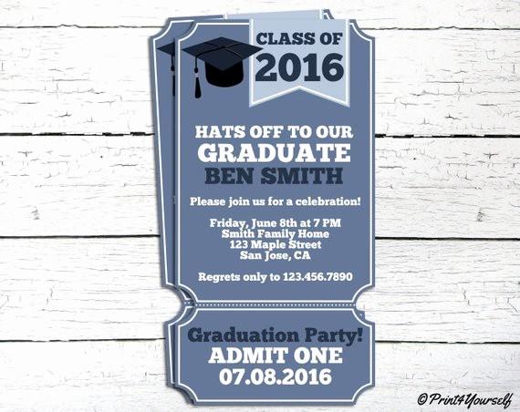 Free Printable Graduation Invitations 2016 Inspirational Graduation Invite Personalized Printable Class