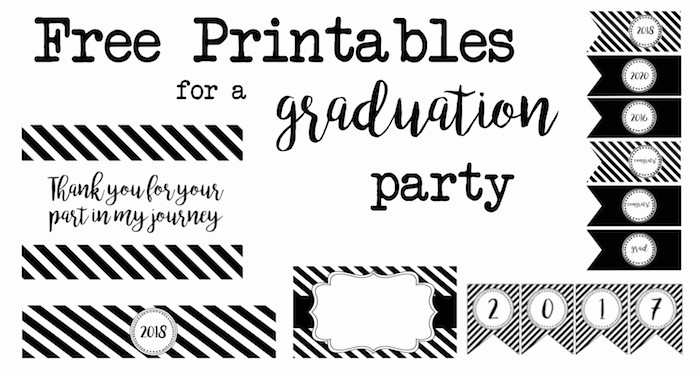 Free Printable Graduation Invitations 2016 Lovely Graduation Party Free Printables Paper Trail Design