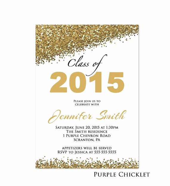 Free Printable Graduation Invitations 2016 Luxury Class Of 2017 Invitation Graduation Party Invitation Gold