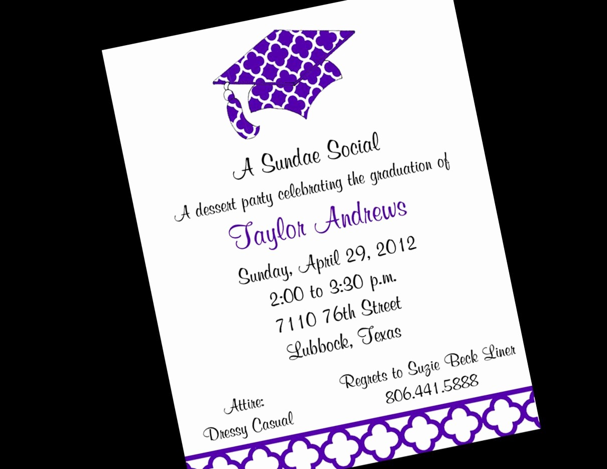 Free Printable Graduation Invitations 2016 Luxury Free Graduation Invitation Templates for Word