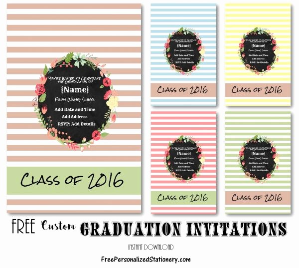 Free Printable Graduation Invitations 2016 Luxury Graduation Invitations