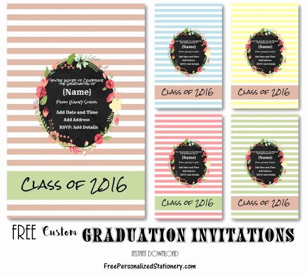 Free Printable Graduation Invitations 2016 Luxury Graduation Invitations