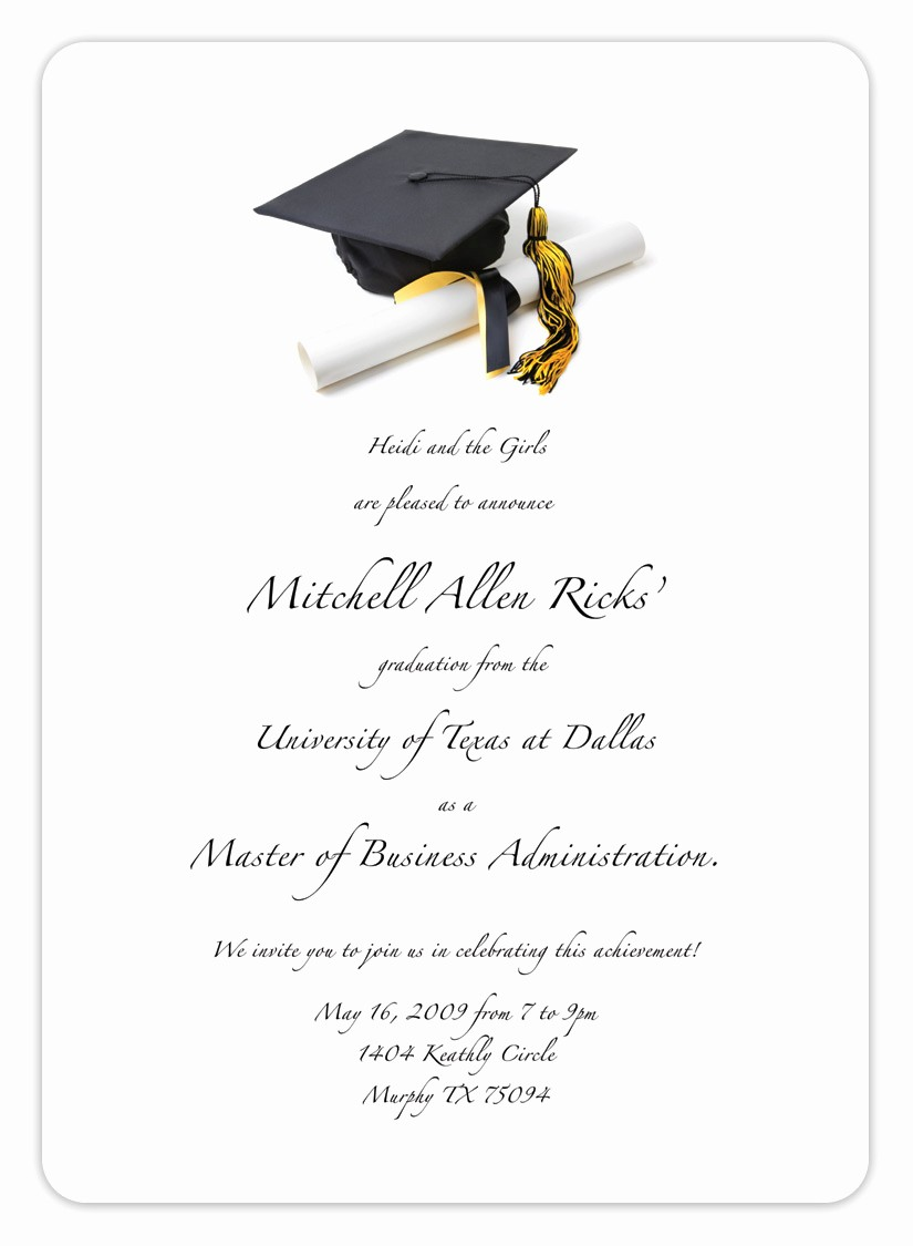 Free Printable Graduation Invitations 2016 New Free Printable Graduation Invitation