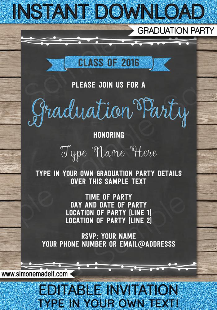 Free Printable Graduation Invitations 2016 Unique Graduation Invitations