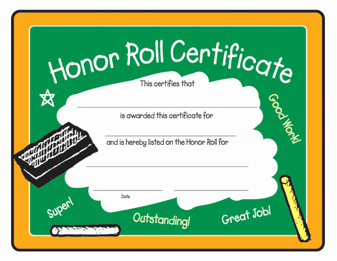 Free Printable Honor Roll Certificates Awesome Ab Honor Roll Certificate Certificate Honor Roll