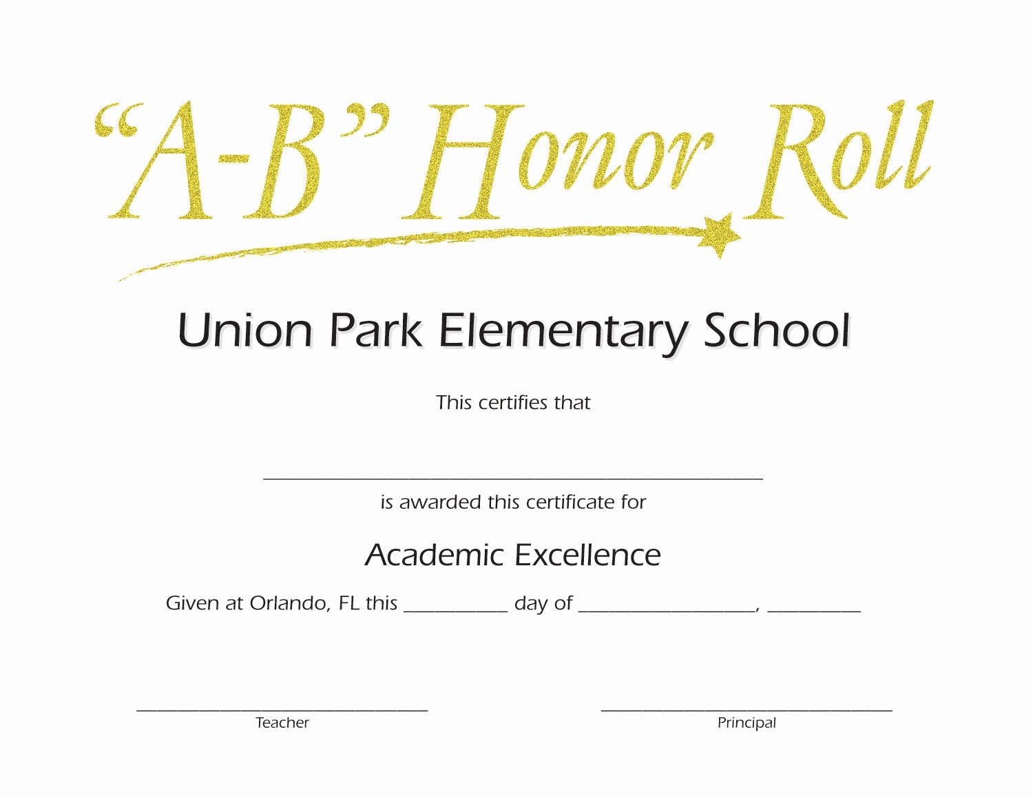 Free Printable Honor Roll Certificates Awesome Ab Honor Roll Custom Certificate Jones School Supply