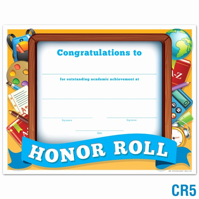 Free Printable Honor Roll Certificates Beautiful Honor Roll Certificate