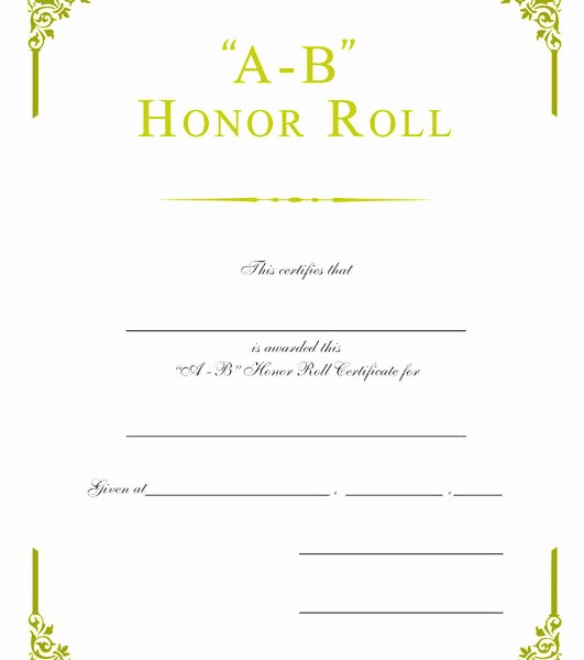 Free Printable Honor Roll Certificates Elegant Gold Foil Embossed Certificates – Wilson Awards