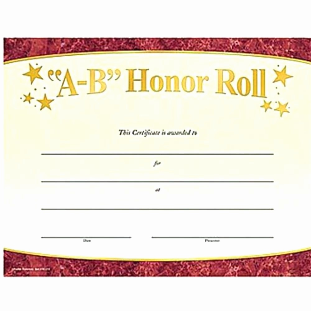 Free Printable Honor Roll Certificates Elegant Template Honor Roll Certificate Template Word