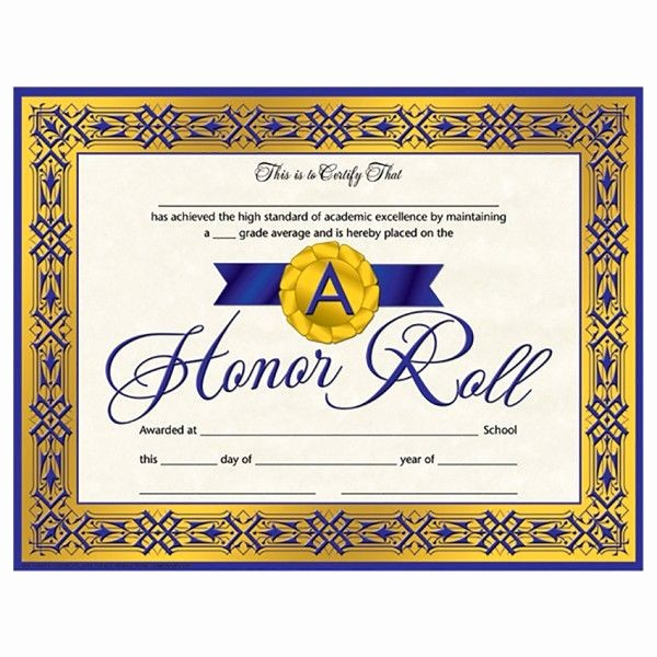 Free Printable Honor Roll Certificates Elegant Va918web 2 1 600×600 Honor Student