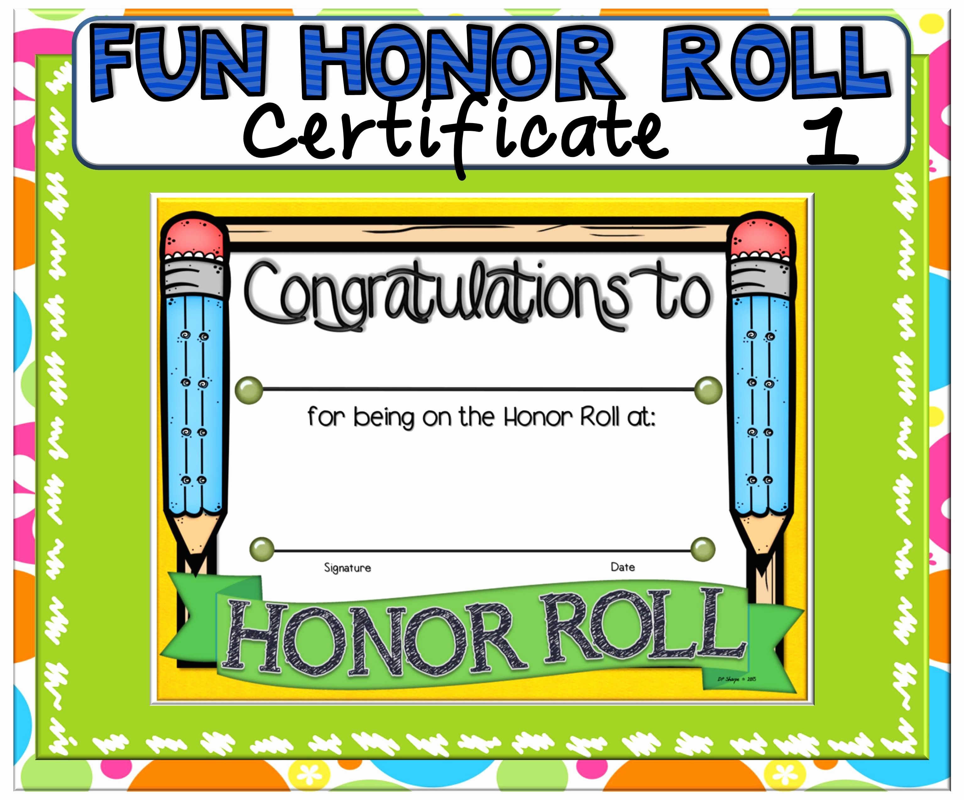 Free Printable Honor Roll Certificates Fresh Certificate Fun Honor Roll 1