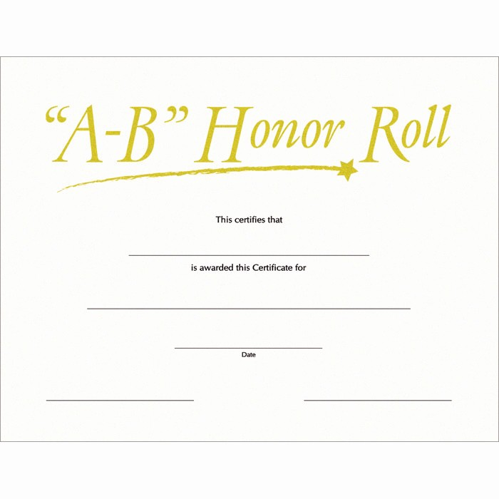 Free Printable Honor Roll Certificates Inspirational Free Printable Honor Roll Certificates