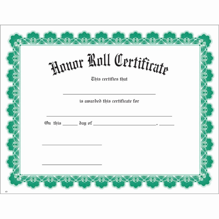 Free Printable Honor Roll Certificates Lovely 8 Best Of Honor Roll Certificates Printable Free