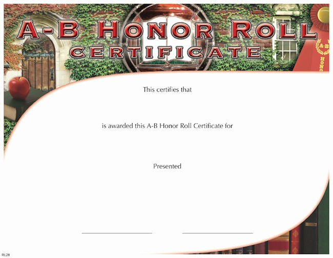 Free Printable Honor Roll Certificates Luxury A B Honor Roll Certificate – Wilson Awards