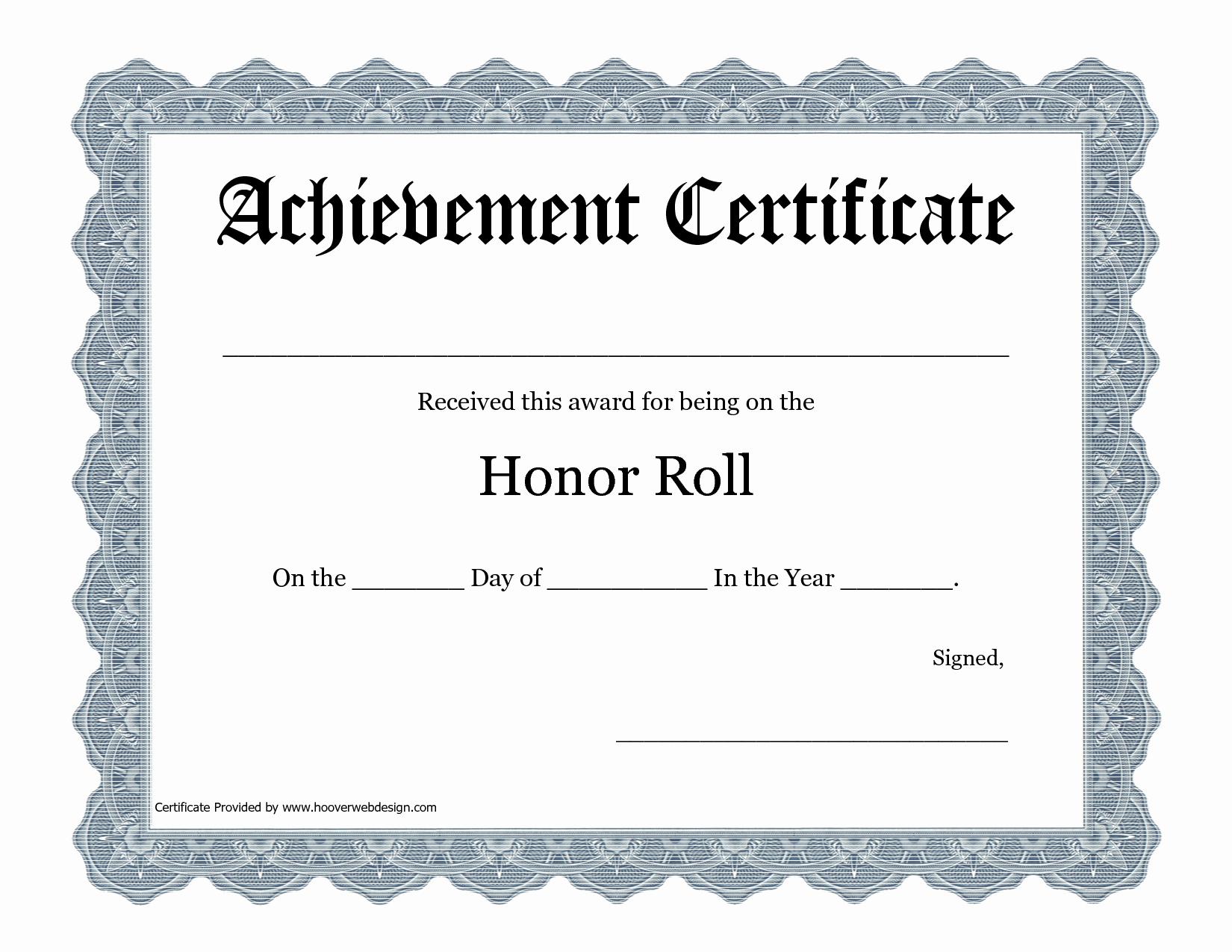 Free Printable Honor Roll Certificates Luxury Printable Certificate Pdfs Honor Roll