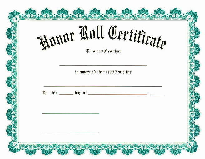 Free Printable Honor Roll Certificates New Award Certificates